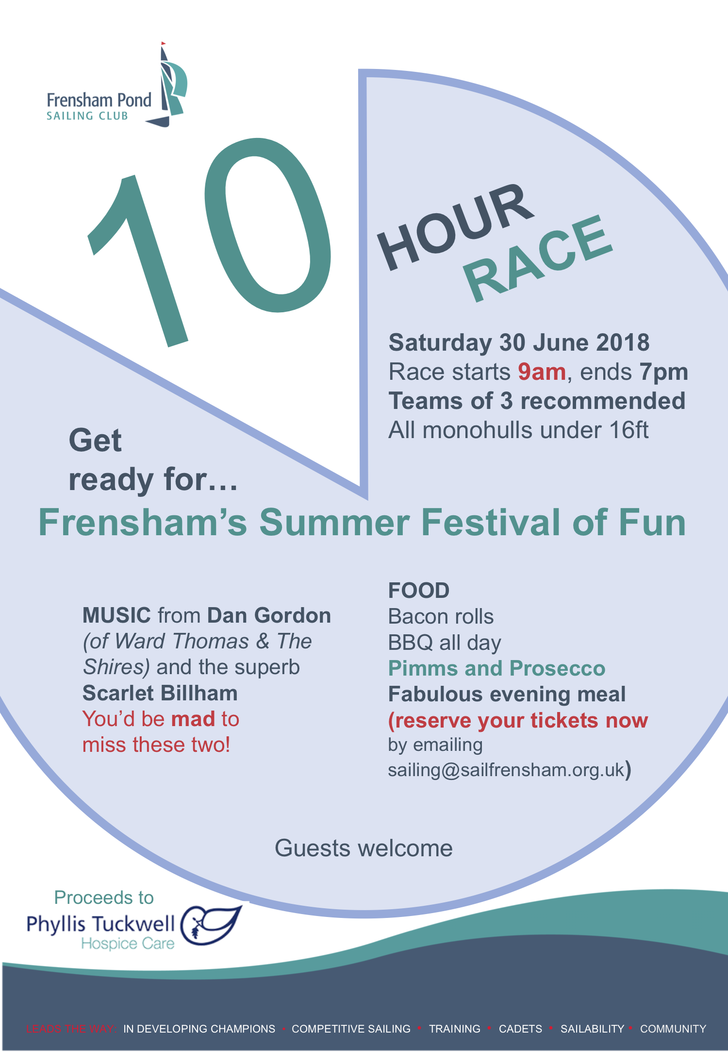 Poster for 10 Hour Race Sat 30 June 2018