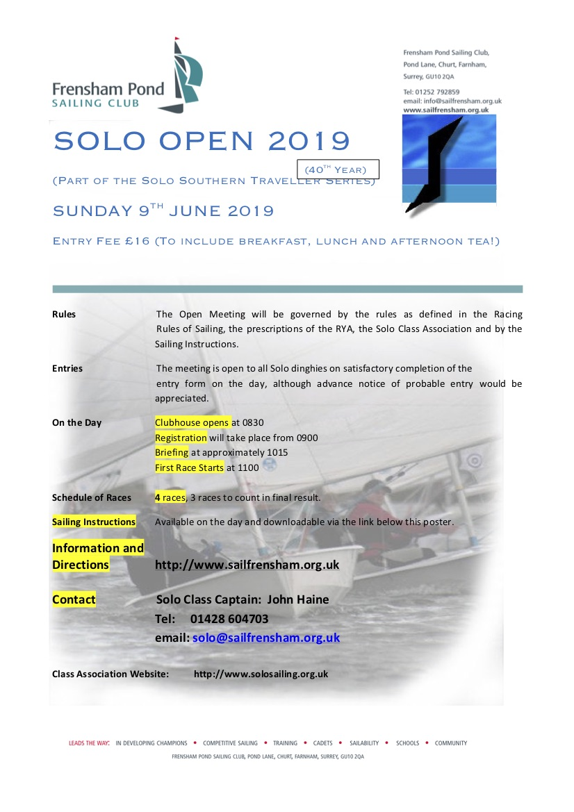 SOLO OPEN 2019 Poster