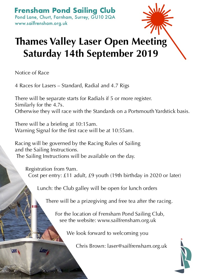 Thames Valley Laser Open, Frensham Pond SC, 14 Sept 2019