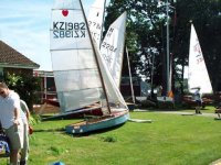 Classic boats in the dinghy park