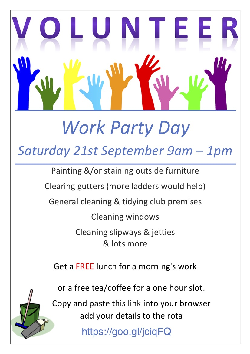 poster for working party 21 Sept 2019
